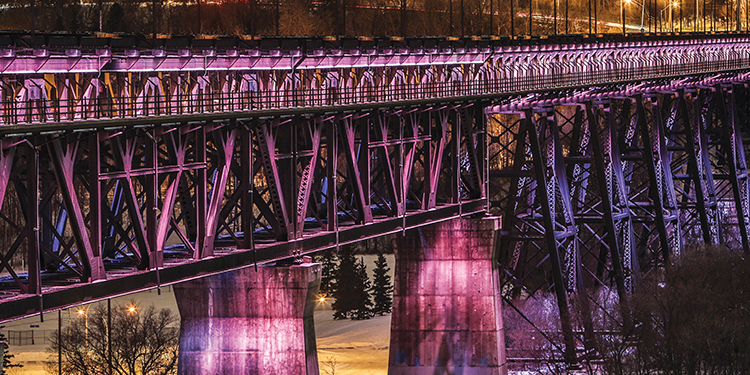 High-level bridge in Edmonton