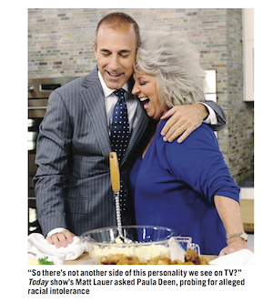 Matt Lauer and Paula Deen