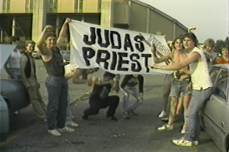 Judas Priest fans in Heavy Metal Parking Lot